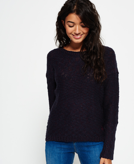 prune lurex twist Superdry Super Icarus Strickpulli