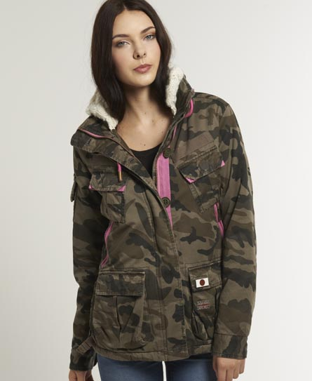 womens ultimate service jacket in camo superdry. Black Bedroom Furniture Sets. Home Design Ideas
