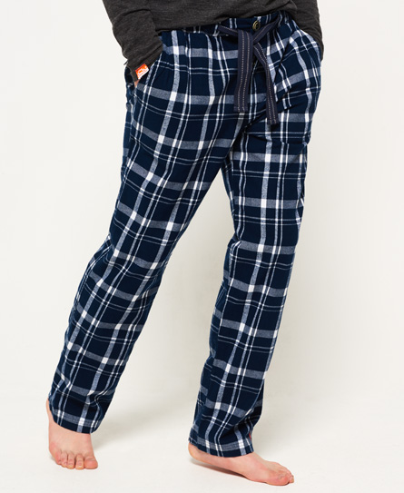 wrangell navy check Superdry Lounge Pants