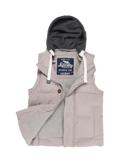 Superdry Academy Vest Light Grey