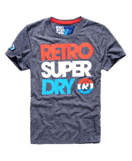 Superdry RETRO STRIPE BOX FIT TEE - Camiseta print - street works grit j2wK3QLH