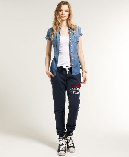 Superdry Applique Slim Joggers Navy