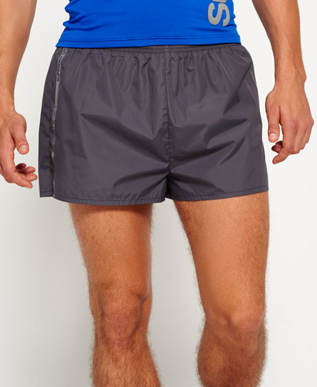 carbon grey Superdry Sports Athletic Running Shorts