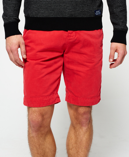 bright red Superdry International Chino Shorts