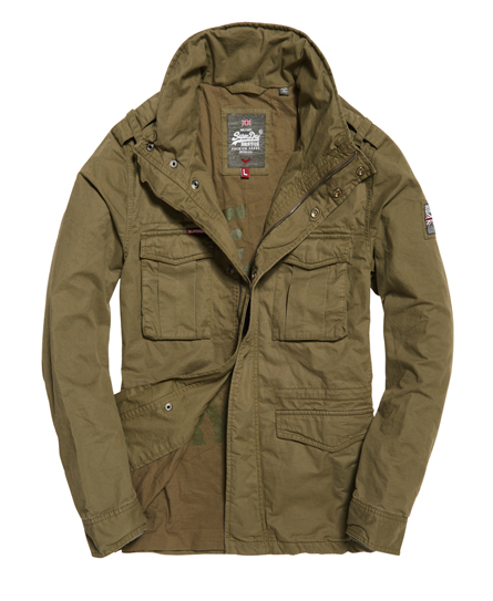 Mens - Rookie Military Jacket In Duty Green