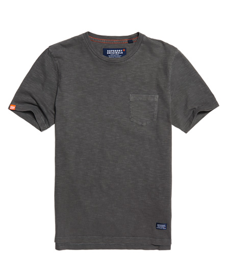 dry charcoal Superdry Originals Pocket T-shirt