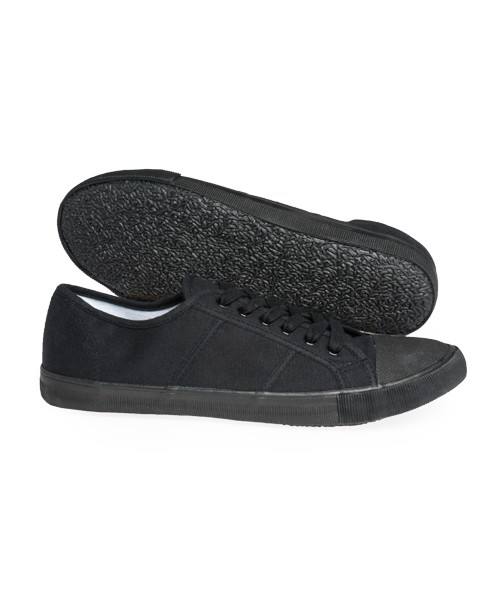 Mens Basic Plimsoll In Black Superdry