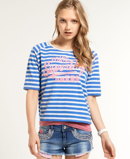Superdry Ticket Stripe T-shirt Blue