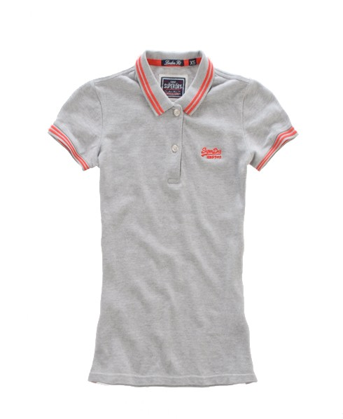 Superdry Tipped Collar Polo Grey