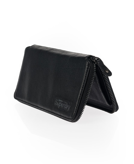 Superdry Zip Clutch Purse Black