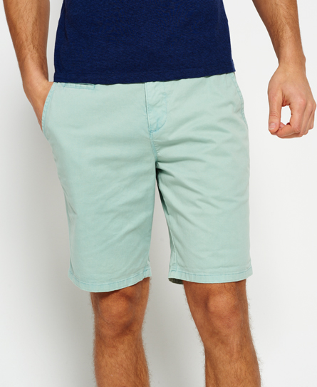 sea wash green Superdry International Sun Scorched Chino Shorts
