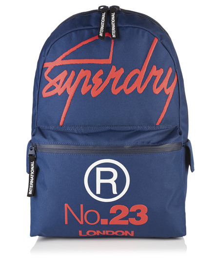 french navy Superdry Zaino International Montana