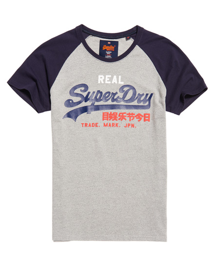 Superdry SHOP DUO RAGLAN TEE - Camiseta print - classic red/classic blue 4thPAOWl
