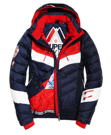 navy/red Superdry Scuba Carve Hooded Jacket