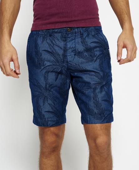 indigo palm print Superdry International Riviera Chino Shorts