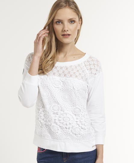 Superdry Hyper Sporty Top White