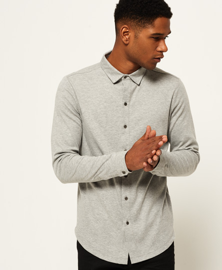 grey marl Superdry Structured jerseyskjorte