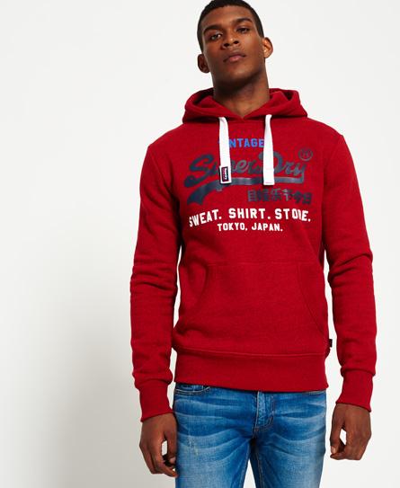rot meliert Superdry Dreifarbiges Sweat Shirt Store Hoodie
