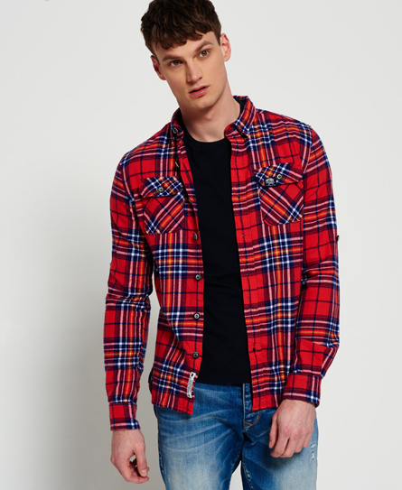 penley check red Superdry Refined Lumberjack Shirt
