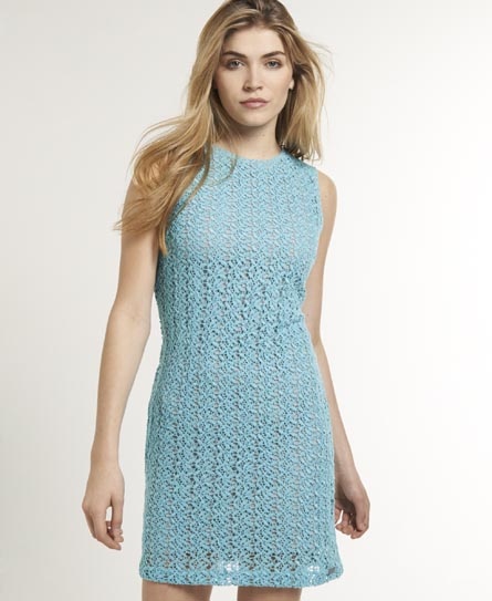 Superdry Hepburn Havana Dress Blue