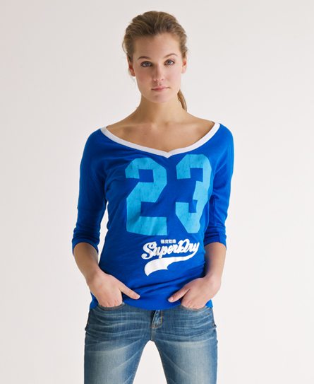 superdry burnout baseball shirt damen oberteile. Black Bedroom Furniture Sets. Home Design Ideas