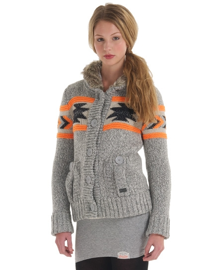 Superdry Tomahawk Bomber Knit Grey