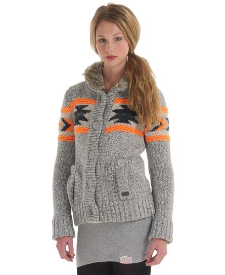Superdry Tomahawk Bomber Knit Grey