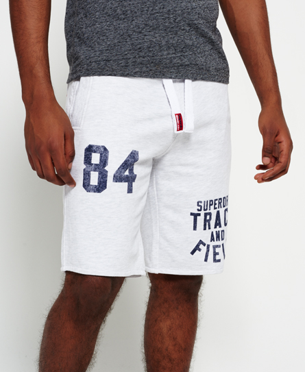 ice marl Superdry Trackster Lite Sweat Shorts