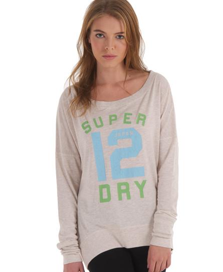 Superdry Number Burnout T-shirt Beige