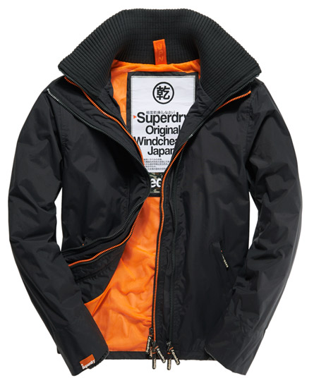 Superdry Pop Zip Windcheater Grey