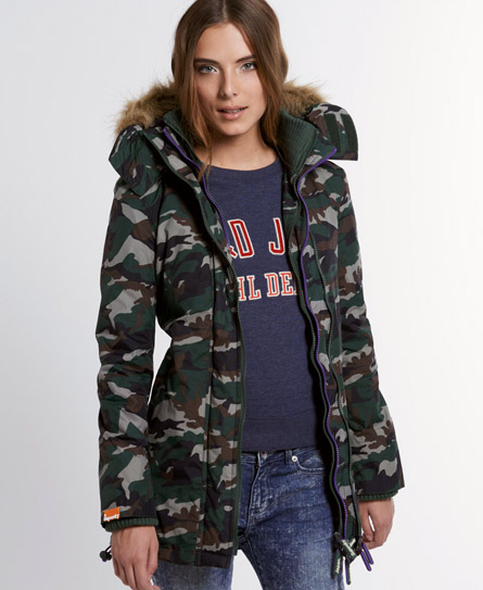 Superdry Polar Wind Parka Coat Green