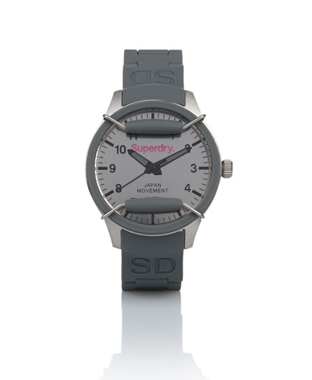 Superdry Scuba Mirror Watch Grey