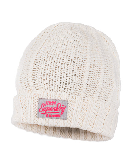 Superdry Vacation Beanie White