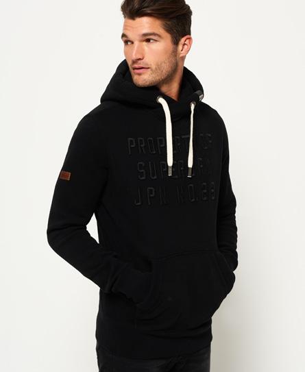 superdry hoodie mit applikation herren hoodies. Black Bedroom Furniture Sets. Home Design Ideas