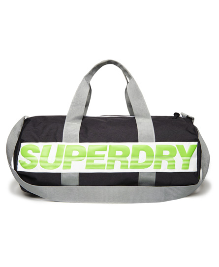mørk mergel / grå mergel / fluro lime Superdry International Barrel-bag