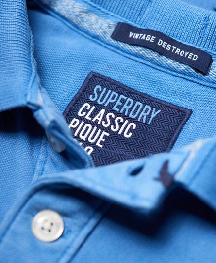 Superdry Vintage Destroyed Bermuda Polo Shirt
