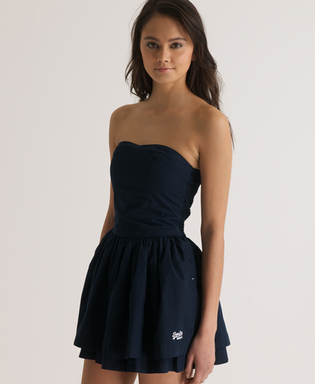 Superdry 50s Colour Dress Navy