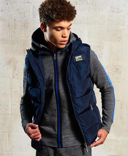 navy/lime punch Superdry Sports Puffer Gilet