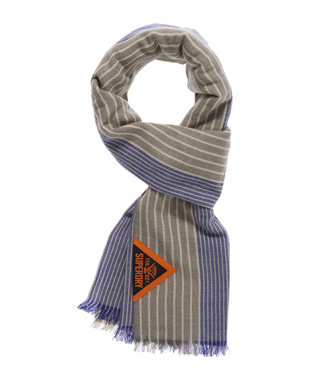 Superdry Super Striped Scarf Grey
