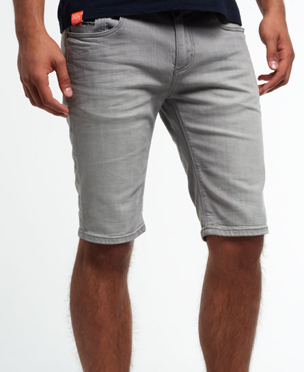 Mens - Officer Denim Shorts in Faded Grey | Superdry
