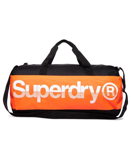 svart / oransje / hvit Superdry Montana Barrel-bag