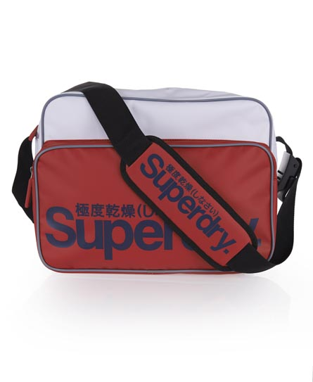 Superdry Tarp Messenger Bag Red