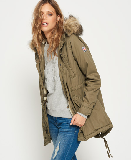 Superdry Heavy Weather Rookie Fishtail Parka Coat