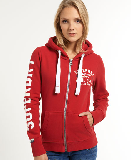 Superdry Trackster Zip Hoodie - Women's Hoodies