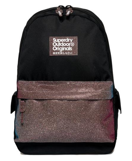 black Superdry Cinda Pocket Montana Rucksack