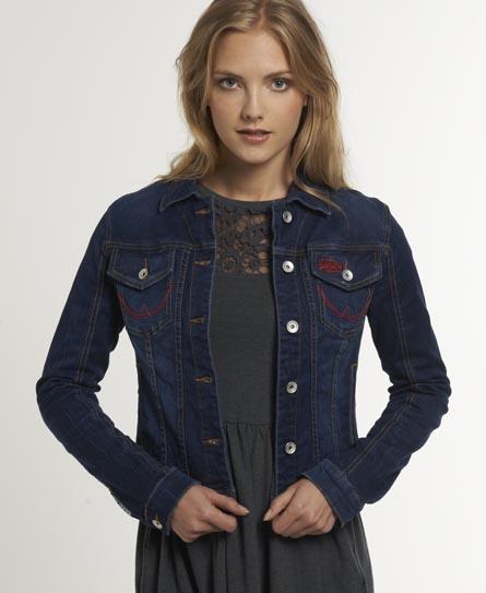 Veste en jean superdry femme