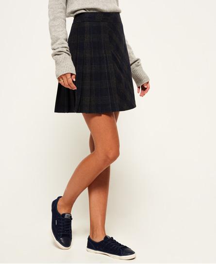 Superdry Superdry Josie Pleated Tweed nederdel