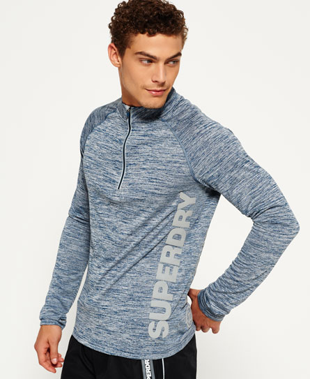 Sports Active Zip Henley Top