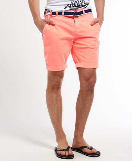 Mens - International Shorts in Neon Coral | Superdry