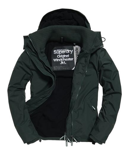 Superdry Cazadora cortaviento con capucha y cremallera Pop Zip Arctic Verde